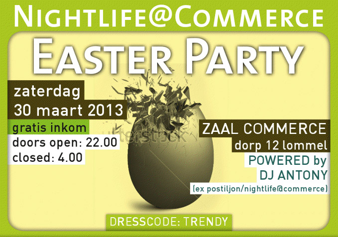 easter party commerce lommel